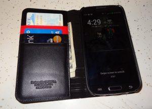 Spigen Leather Wallet SNAP case Samsung Galaxy S4 (1)