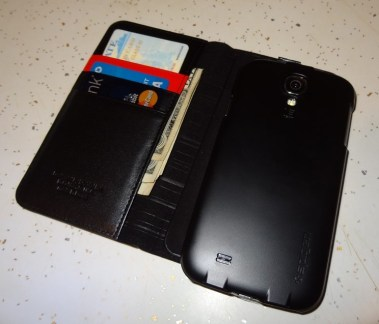 Spigen Leather Wallet SNAP case Samsung Galaxy S4 (7)