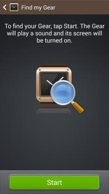 Samsung Galaxy Gear Find My Watch