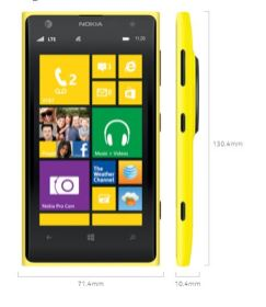 Nokia Lumia 1020 Smartphone Review - Windows Phone 8- Dimensions