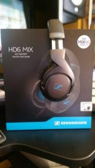 Sennheiser HD6 MIX Headphones - Side / Box