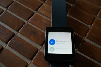 LG G Watch Google Now