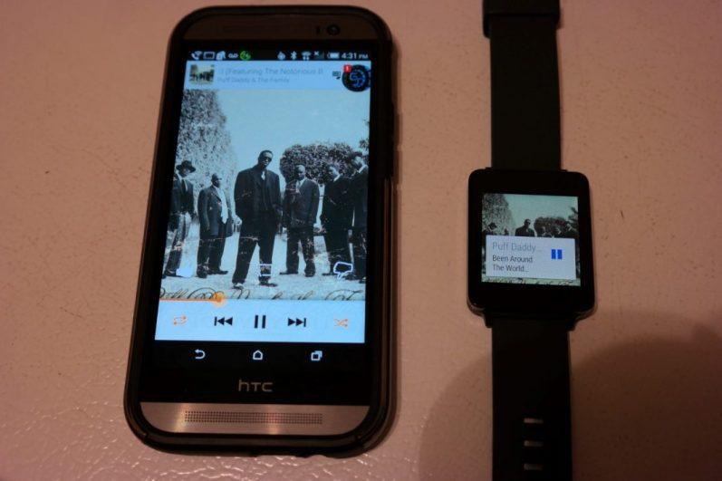 LG G Watch Google Play Music