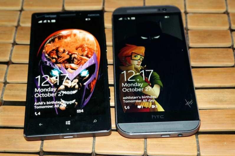 HTC One M8 for Windows Vs Nokia Lumia Icon Comics