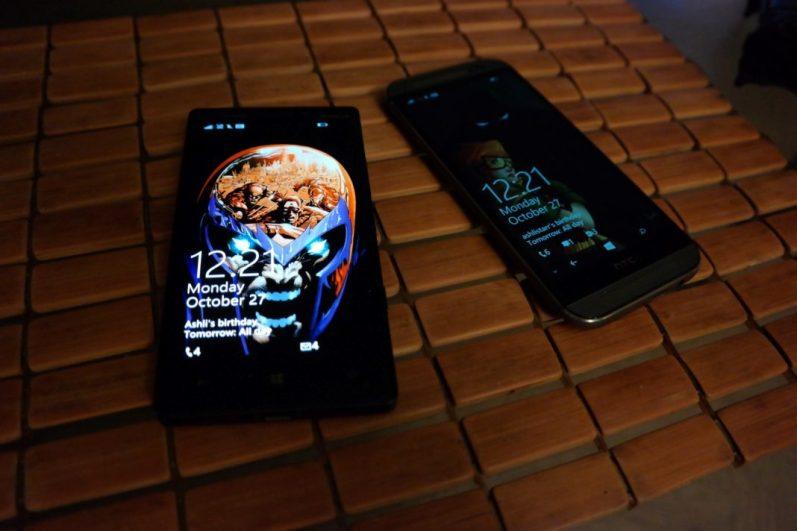 HTC One M8 for Windows Vs Nokia Lumia Icon 3