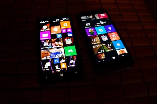 HTC One M8 for Windows Vs Nokia Lumia Icon  Tiles