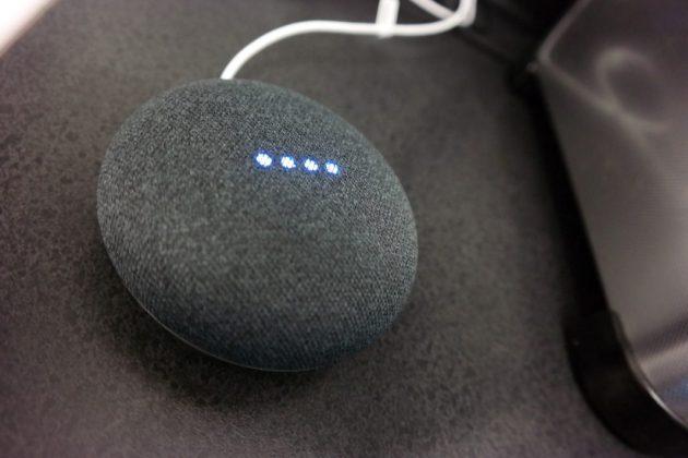 Google Home Mini On