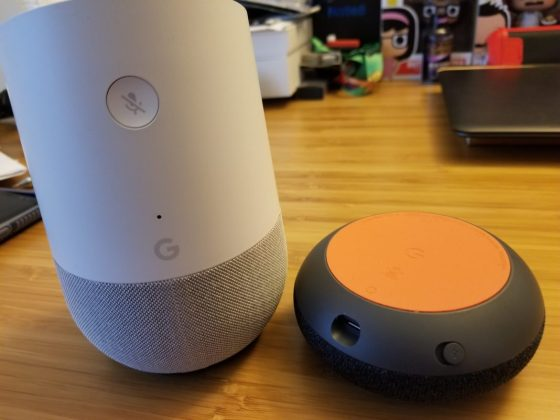 Google Home vs Google Home Mini Buttons