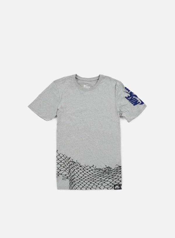 NIKE - Air Chain Fence T-shirt, Dark Grey Heather/Deep ...