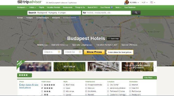 Tripadvisor-díjeső a magyarországi Sofitel, MGallery, Novotel és ibis szállodáknak