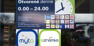 A szlovák autópálya-matrica az interneten is elérhető