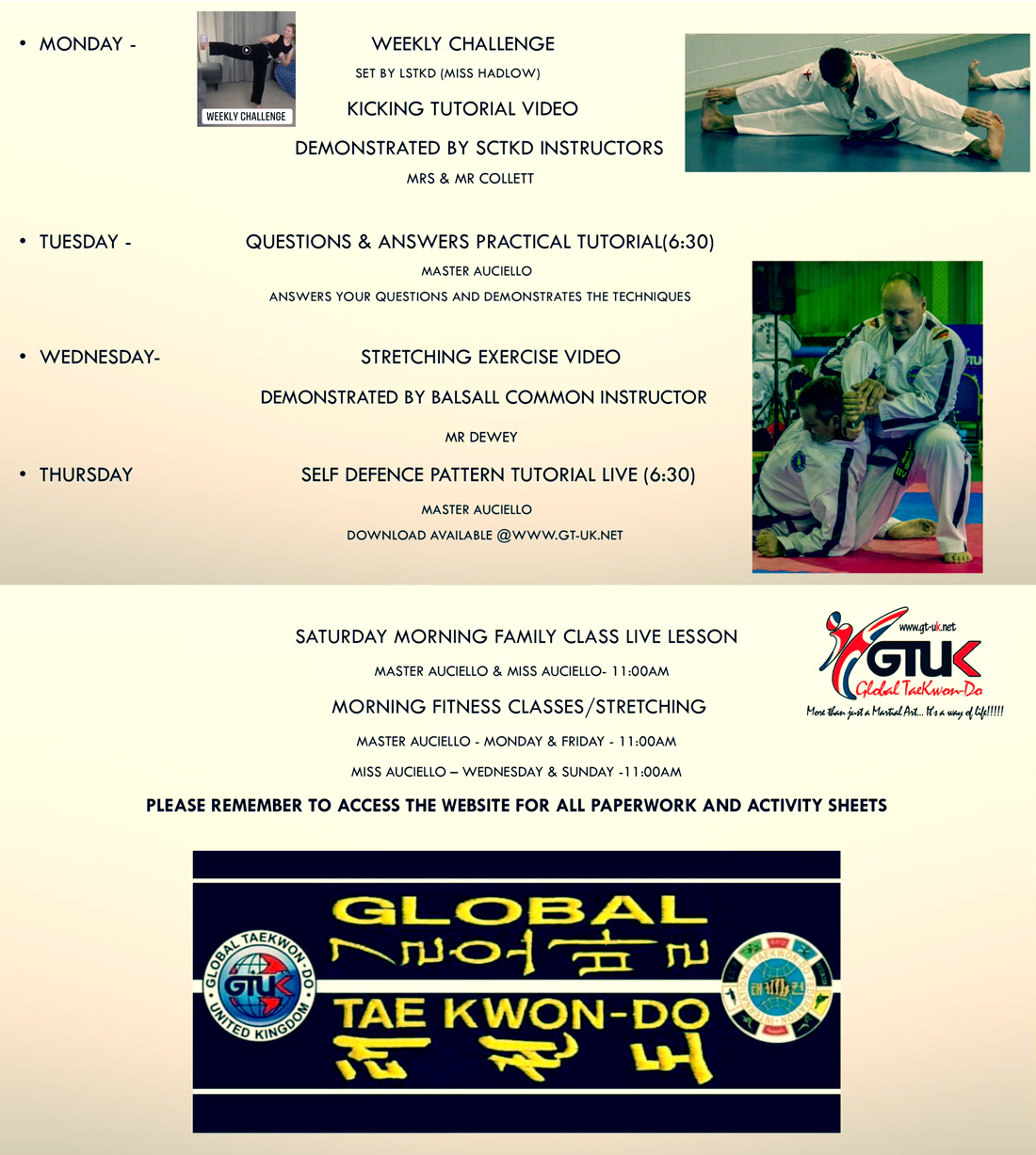 gtuk distance training schedule
