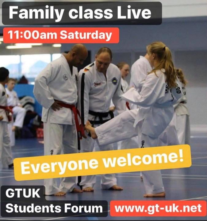 Taekwondo Class LIVE