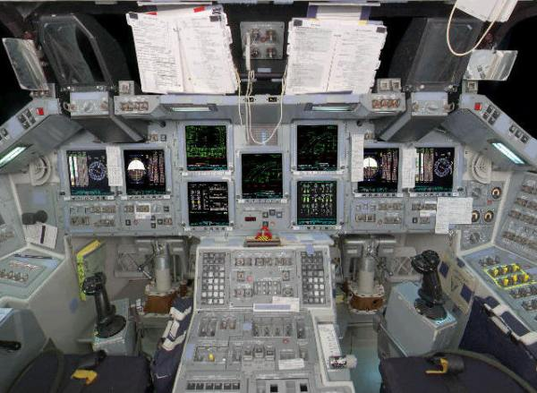 Space Shuttle Guide; Interior of the Flight Deck of the ...