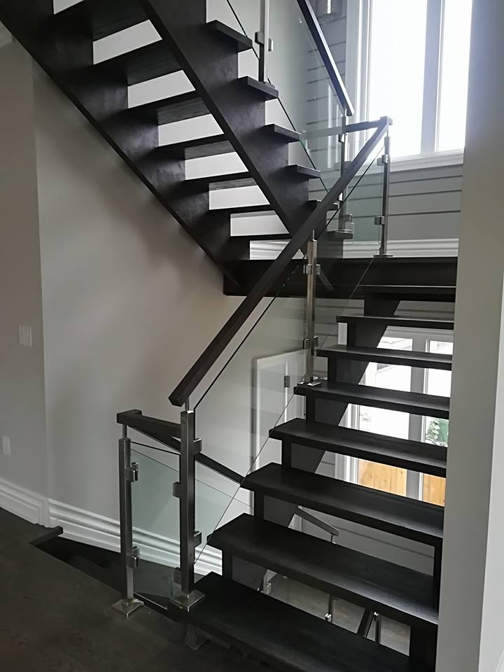 5 Styles Of Stair Railings For Interior Design Glass Railings | Handrails For Stairs Interior | Staircase Handrail | Rectangular Tube | Residential | Barnwood Rustic | Industrial