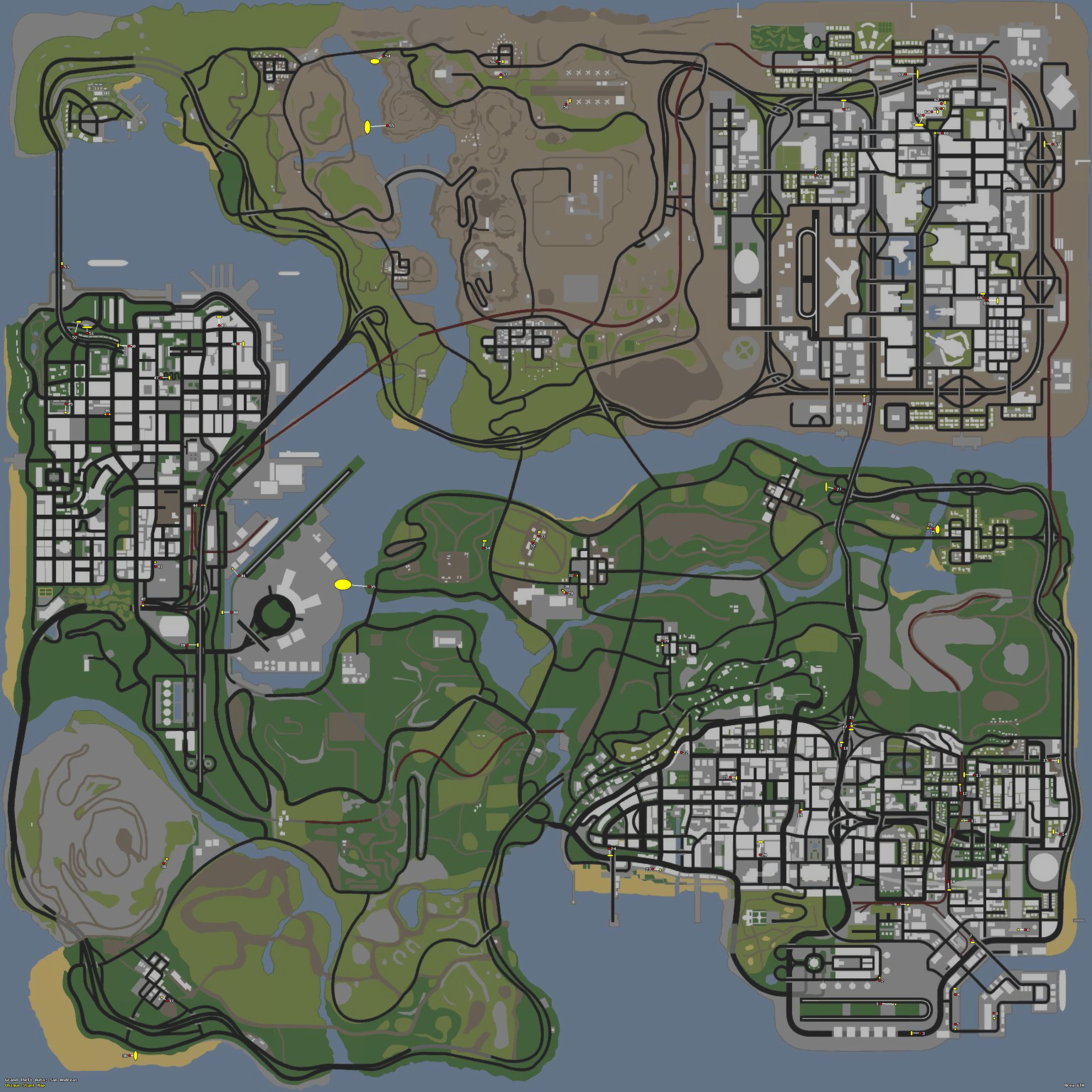 GTA SA Maps Area GTA