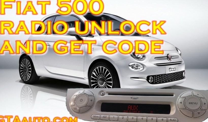 Fiat 500 Radio Unlock and Get Code PIN 1 maxresdefault 2