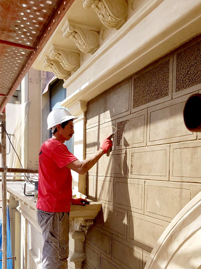Proceso 2 recuperación fachada sillería abujadada