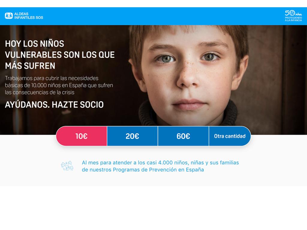 Imagen web ALDEAS INFANTILES SOS
