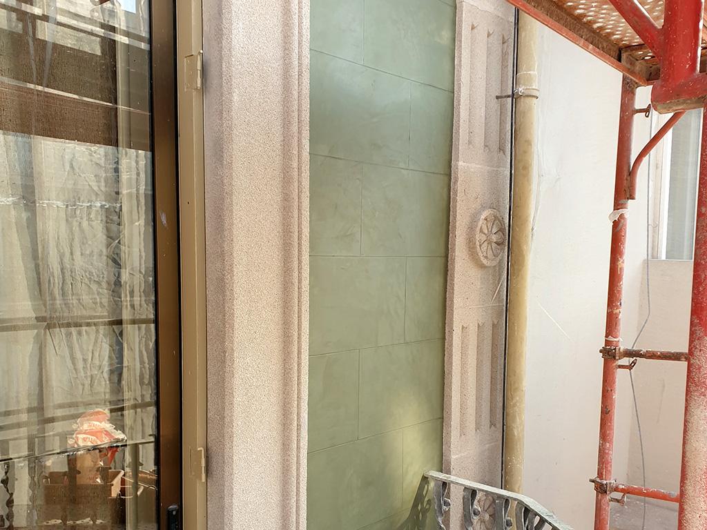 Detalle fondo fachada