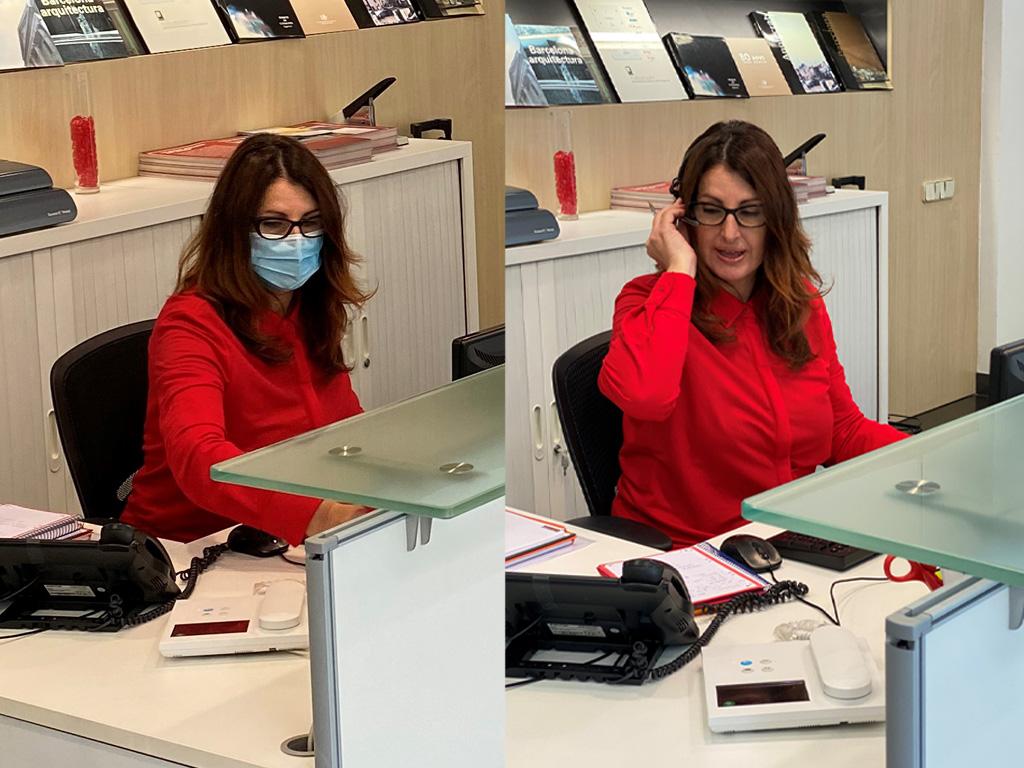 Montse García en el departamento SAC