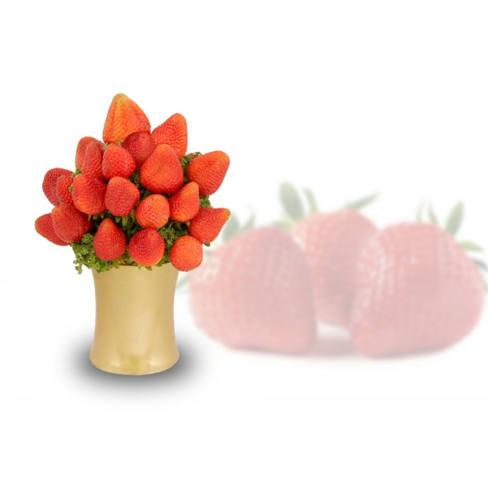Organic Fresh Strawberries Arrangement, sympathy gift, fruit gift, strawberries gift delivery Richmond Hill