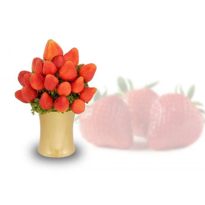 Organic Fresh Strawberries Arrangement, sympathy gift, fruit gift, strawberries gift delivery Richmond Hill