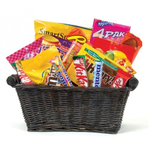Just junk gourmet basket, goodies, snacks