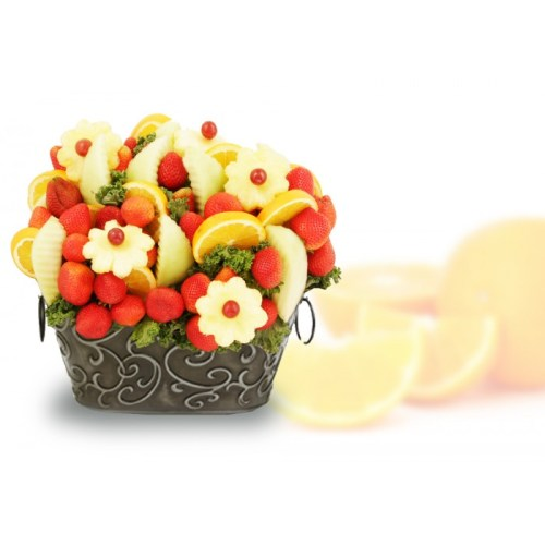 Tribute Edible Fruits, sympathy basket, fruit bouquet, strawberry arrangement, tribute gifts delivery down town Toronto