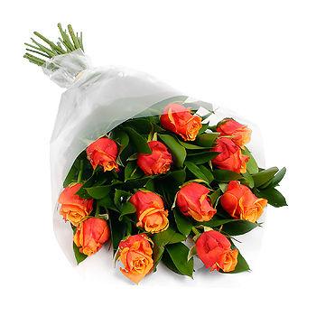 12 Orange Roses, Toronto Florists