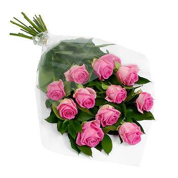 Dozen Pink Roses, flower shop, Toronto Florists