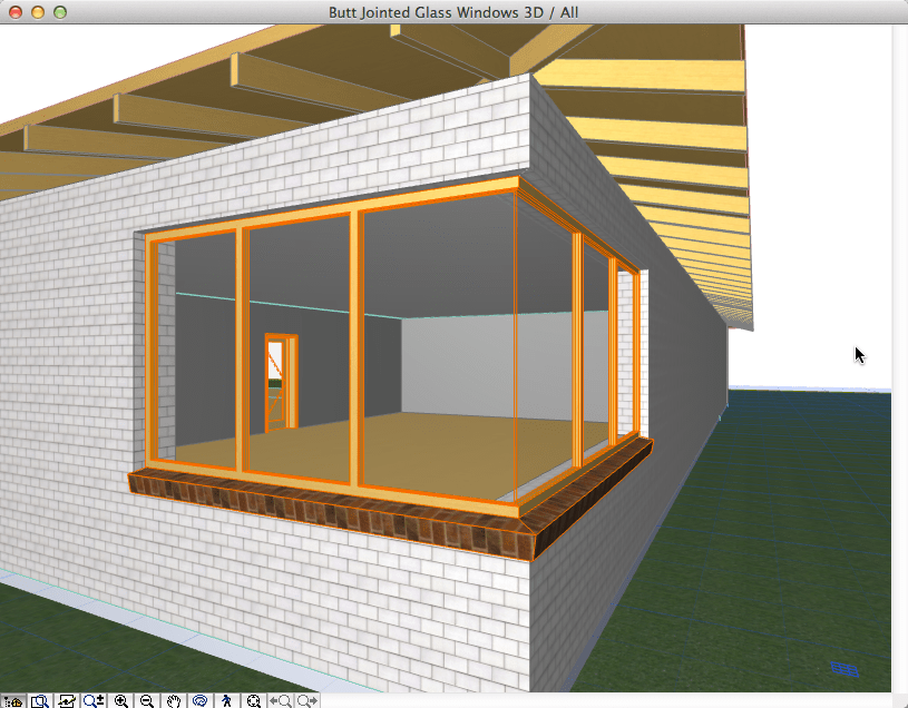 How to: Butt Jointed Glass Windows in ArchiCAD (5/6)