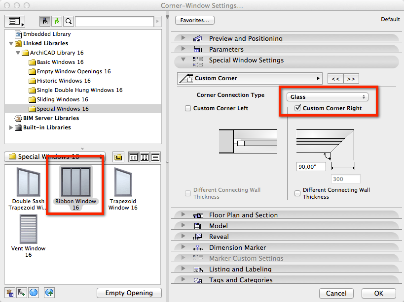 How to: Butt Jointed Glass Windows in ArchiCAD (2/6)