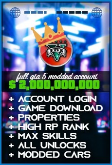 Product: GTA 5 $2000000000 modded account