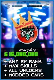 Product: GTA 5 $15000000 money drop
