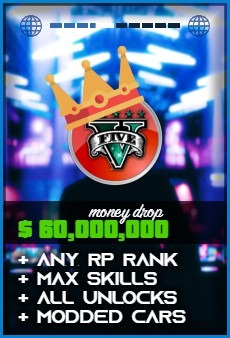 Product: GTA 5 $60000000 money drop
