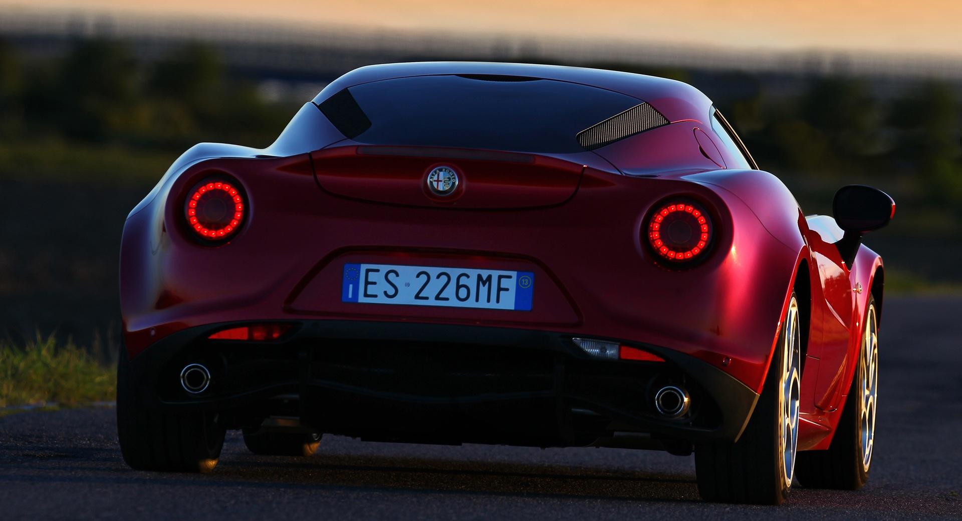 2014 Alfa Romeo 4C Rear View