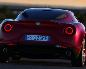 2014 Alfa Romeo 4C Rear View
