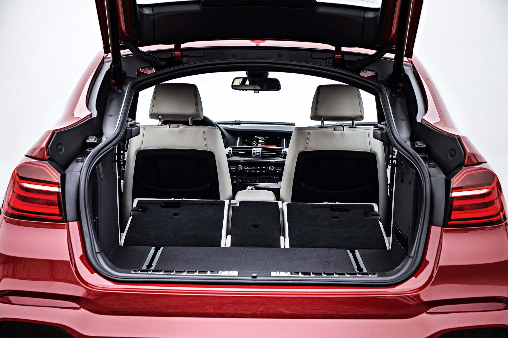 2015 BMW X4 Rear Seat Down and Trunk View