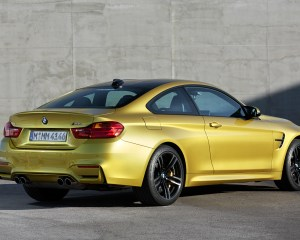 Rear and Side Exterior BMW M4 Coupe 2015