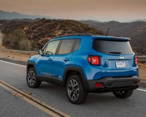 2015 Jeep Renegade Blue Rear Exterior Profile
