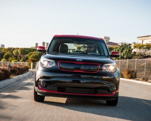 2015 Kia Soul EV Black Front End Design