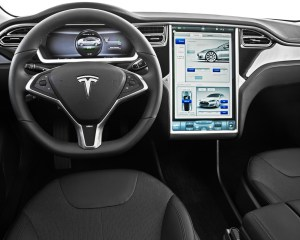 2013 Tesla Model S 60 Cockpit and Head Unit Interior