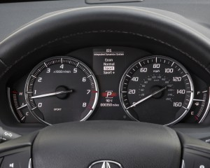 2015 Acura TLX 3.5L SH-AWD Interior Speedometer