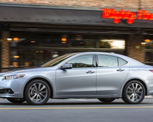 2015 Acura TLX 3.5L SH-AWD Test Side View