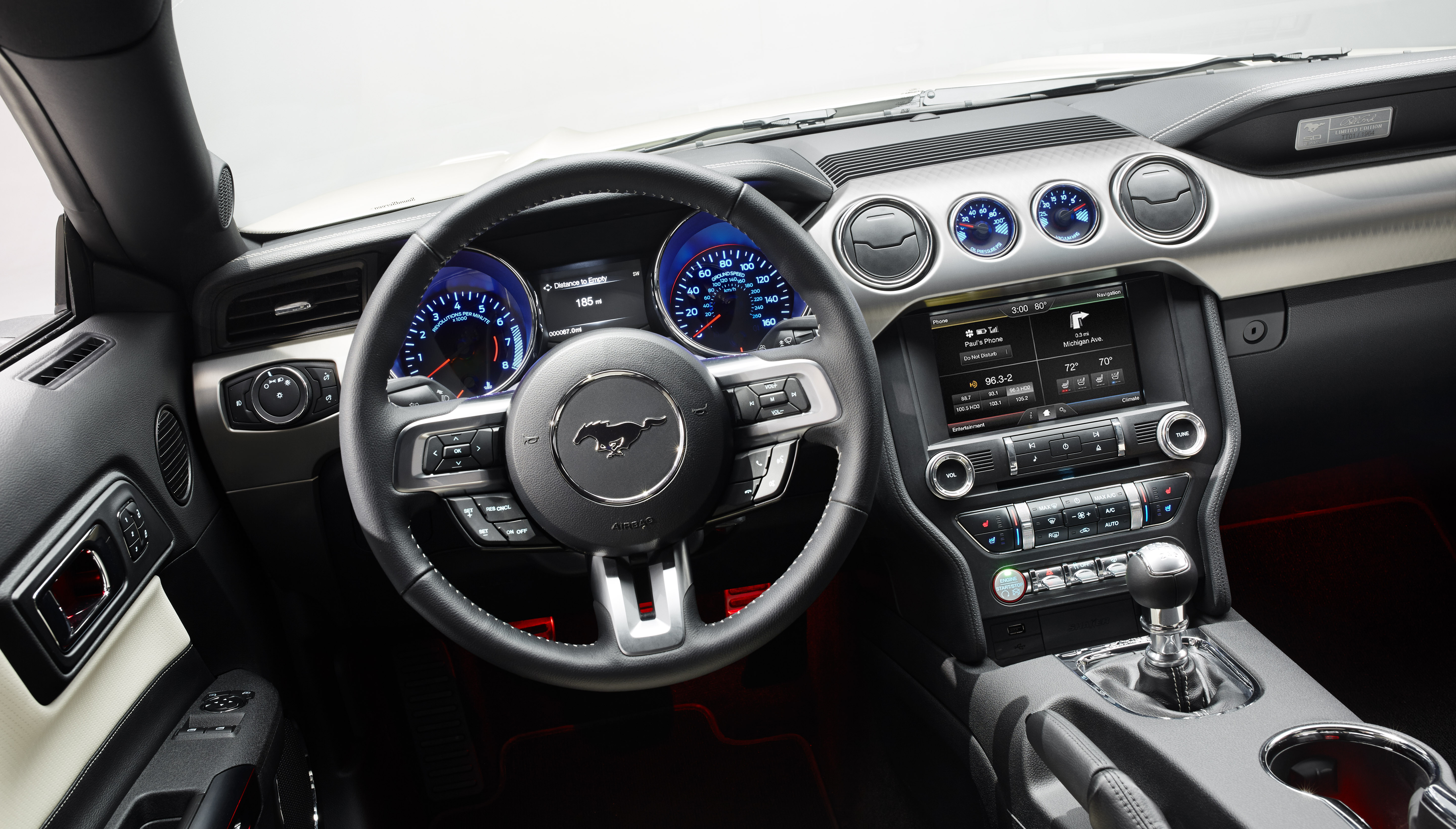 Ford Mustang GT 50 Year Limited Edition Streer and Speedometer