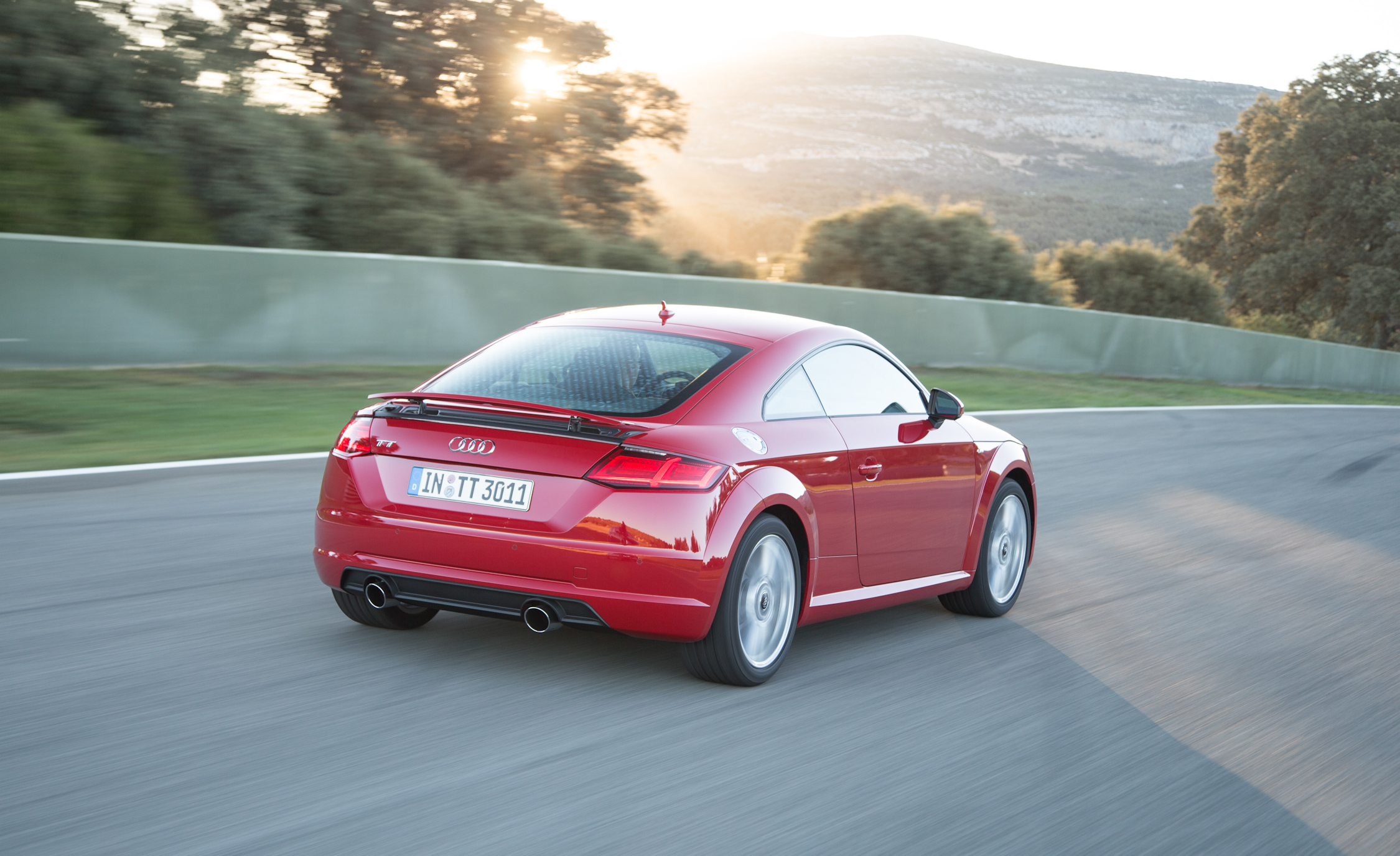 2016 Audi TT Coupe Test Rear and Side View