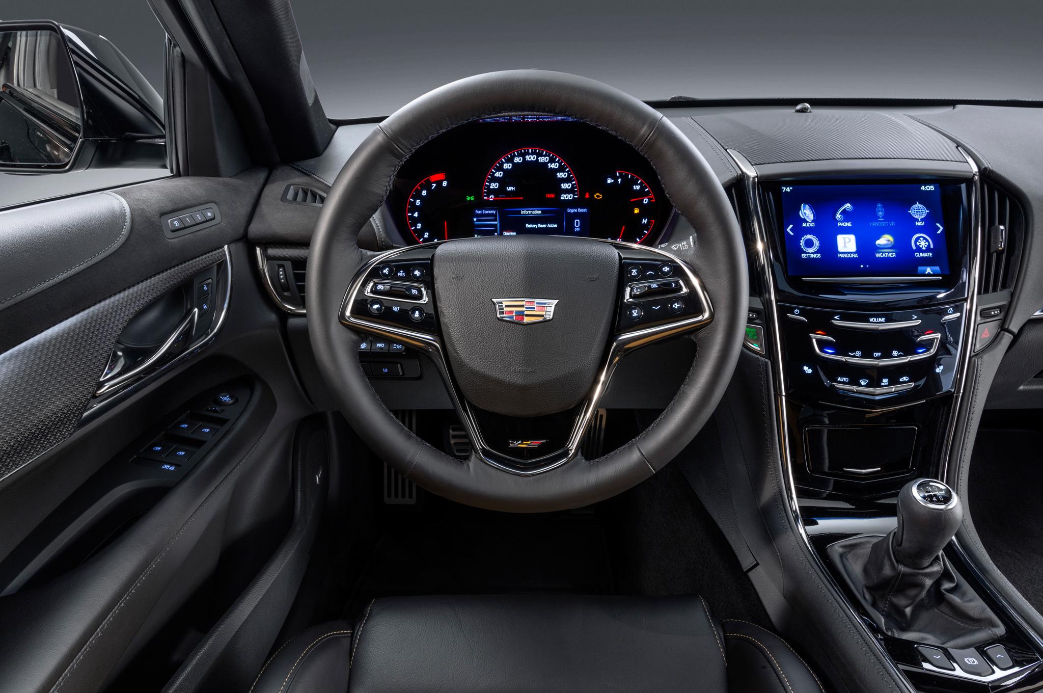 2016 Cadillac ATS-V Cockpit and Speedometer