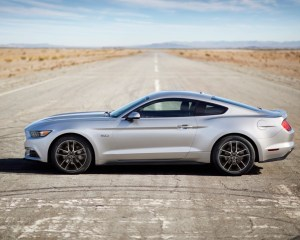 Silver 2015 Ford Mustang GT Side View