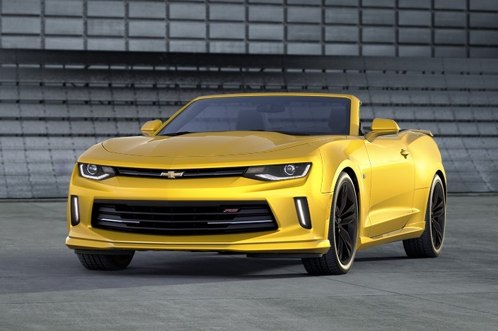 2016 Chevrolet Camaro Convertible Yellow Exterior Preview